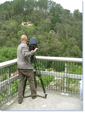 Photojournalist Yann frames a shot of our valley