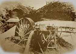 Warne and Guilfoyle water wheel